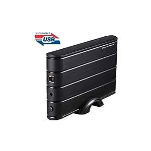 SMARTTECK boitier 3.5''Sata USB3.0 noir alu B35932-BK