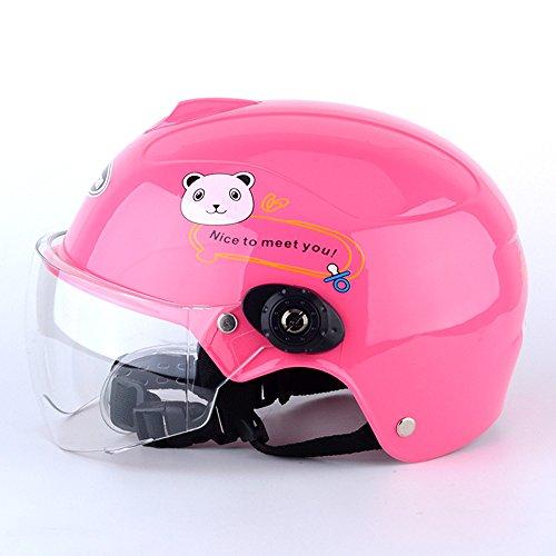 Lidauto Kinder Motorradhelme Leichte Kinderfahrräder Safety Hats,Pink