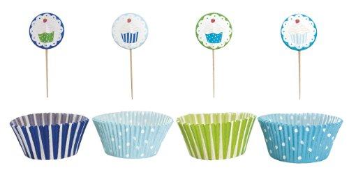 Jabadabado kindergeburtstag muffin deko set blau ean for Kindergeburtstag deko set