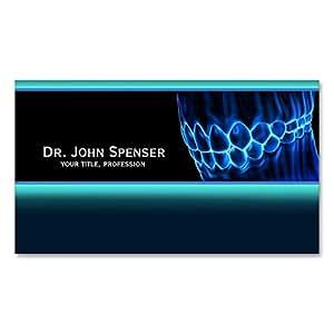 Carte de visite bleu de dents et de gommes