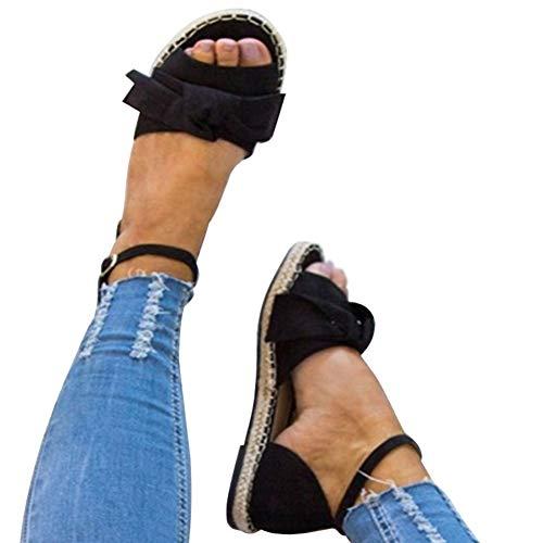 Minetom sandali con tacco argento, sandalo gioiello oro donne estate strappy gladiator basso piatto tacco flip flops spiaggia sandali sandali sportivi donna nero eu 44
