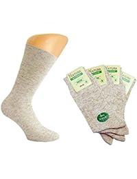 "8 Paar Herren ""Pro Umwelt"" Leinen Socken beige-melange von Art-of-Baan"
