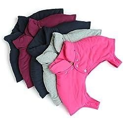 UGUAX 1Herren Frauen Schulterwärmer Kurzen Ärmeln hält Body Wrap Hals Warm Arthritis, rheumatischen Schmerzen verhindern, Grau, XXX-Large