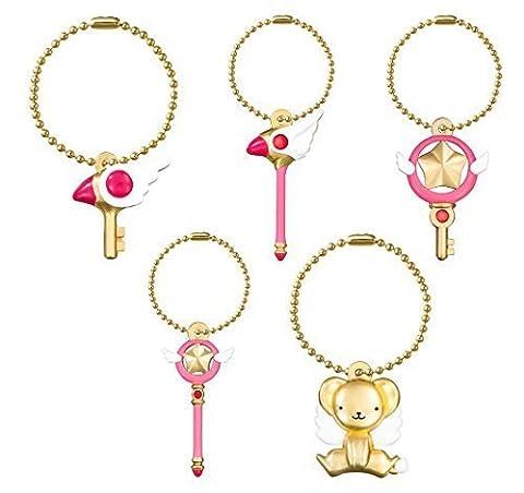 Card Captor Sakura Die-cast Charm~KeyChain Figure Swing~Complete set of 5