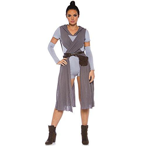 Leg Avenue 8672805025 3 teilig Set Galaxy Rebel, Damen Karneval Kostüm Fasching, Grau, Größe S/M (EUR 36-38) (Wars-halloween-kostüme Star Frauen Für)