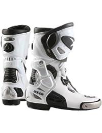 Axo Botas de Moto Primato Evo Blanco/Negro EU 44