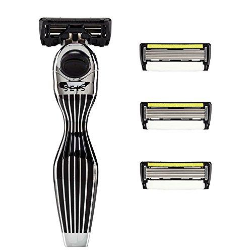 shave-lab-seis-rasierer-kit-mit-4-klingen-black-edition-p6-1-mit-trimmer-fur-manner-mit-ergonomische