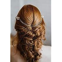 Simsly Vines fasce decorative capelli sposa perla capelli accessori per  spose e damigelle (argento) 7304702df8aa