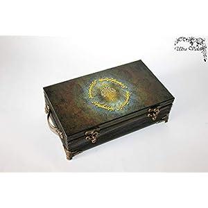 Exklusive Schatulle, Holzkästchen, Jewelry Box, Box,Schachteln, Kästchen, wood, für schmuck wood, Herr der Ringe, lord of the rings