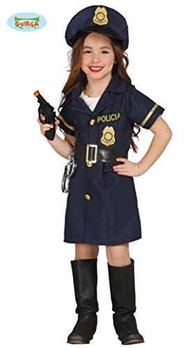 Kinderkostüm Polizistin Josy Mädchen Kleid blau Polizei Uniform Fasching Kinder (10-12 (Polizei Kinder Kleid Für)