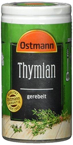 Preisvergleich Produktbild Ostmann Thymian gerebelt 15 g Thymian-Gewürz für viele Fleisch-,  Fisch-,  Pilz-,  und Gemüsegerichte der mediterranen Küche,  Menge: 1 Stück