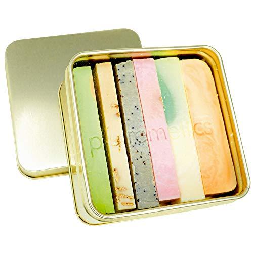 puremetics Zero Waste Testpaket: 6 Seifen Minis + Reisebox gratis   100% natürlich, vegan & plastikfrei   Naturseife ohne Plastik   festes Duschgel, Shampoo, Gesichtspflege