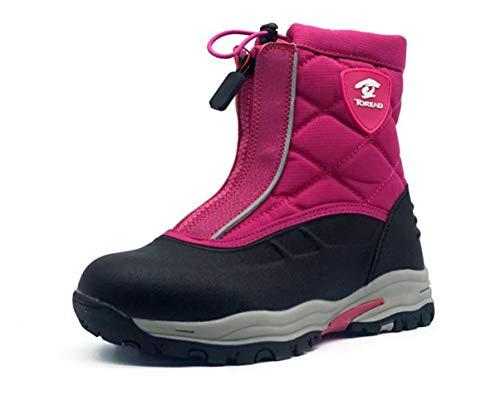 Qianliuk Winter Kinder Wasserdicht Plus Plüsch Schnee Stiefel mit Reißverschluss Komfortable Kinder Rutschfeste warme Baumwolle Stiefel