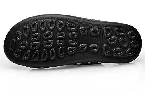 Männer Leder Sandalen Sommer Neue Lace-Up Hausschuhe Trend Tägliche Casual Schuhe Slip On Beach Schuhe Black