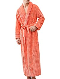 1090399874 FeiliandaJJ Valentine s Day Unisex Winter Towelling Robe Plush Wrap  Lengthened Shawl Collar Bathrobe Home Clothes Robe