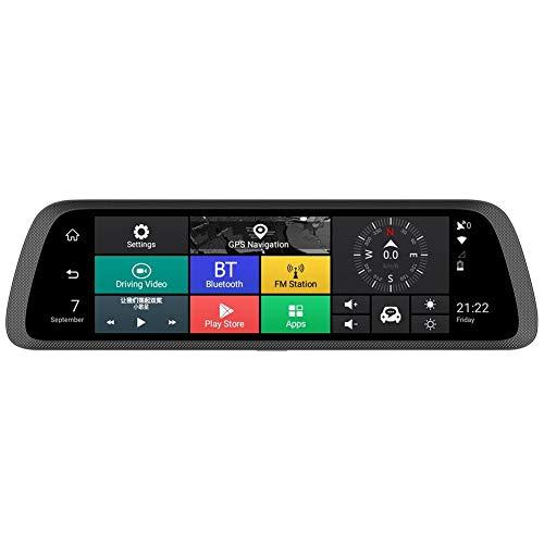 AFFEco Autoaufzeichnung, 25,4 cm (10 Zoll) großes Display, HD 789 3G 4G Android 5.1, DVR-Kamera, Spiegel, ADAS, WiFi, GPS Dashcam - Dash 3g