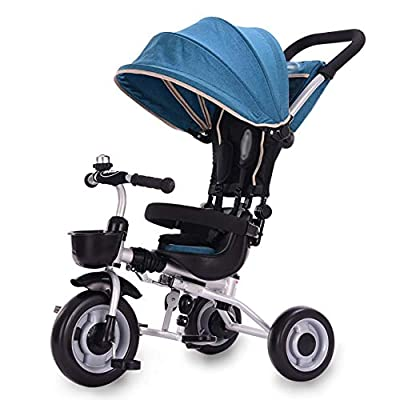 LYDB Trikes for Toddlers,Kids Children's Tricycle Bicycle Baby Pedal Car Lightweight Folding Trolley 2-5 Years Old with Skylight (Color : Blue)