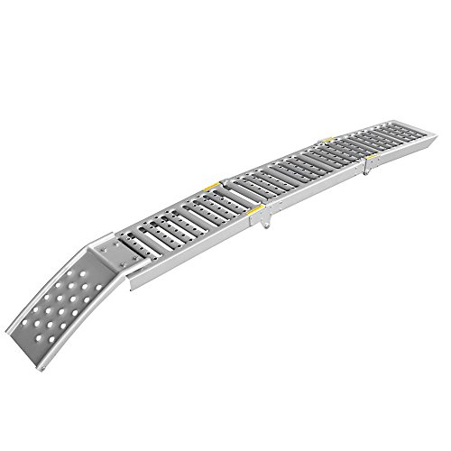 Arebos 2 x Rampe de Chargement Rampe d'accès Rails d'accès Rampes Acier 1600 kg Pliable