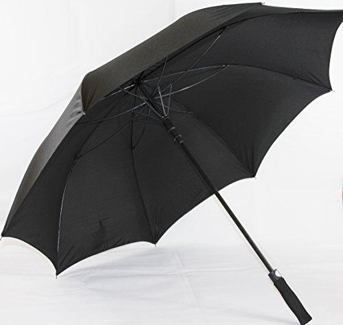 De alta calidad paraguas de golf XXL (extra grande) con fibra de vidrio colour negro, automático (HT5939P)