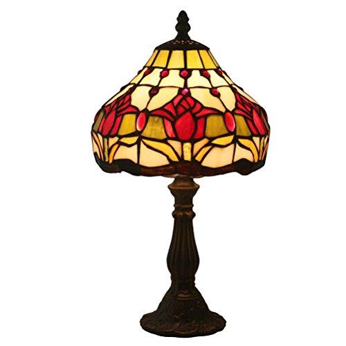 FABAKIRA Tiffany 8 Zoll Nachttisch europäischen Stil Glasmalerei Tischlampe Leselicht -