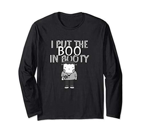 I Put The Boo In Booty - Grusliges Boo Halloween Geschenk Langarmshirt