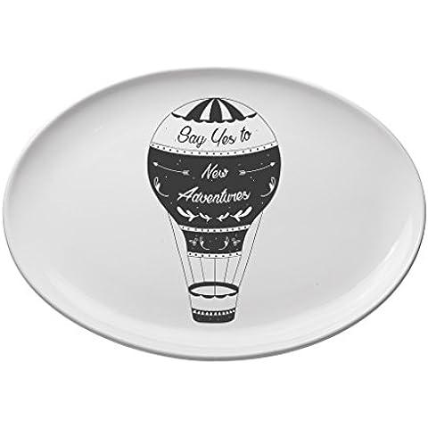 Valli Ceramiche, Vassoio ovale piccolo mongolfiera 30x22 cm