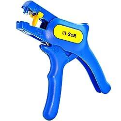 S&R Automatische Abisolierzange RAPID 0,2-6mm² Kabel-Abisolierer mit Schneide bis 2mm² Entmantelungswerkzeug mit Seitenschneider bis 2 mm Elektriker Werkzeug Abmanteler