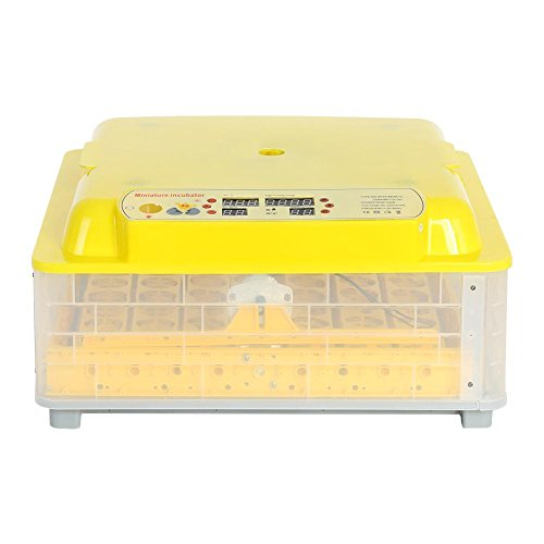 Incubatrice per uova automatica incubatore digitale automatico uova intelligent 56 eggs incubator hatcher machine con luce a led temperatura e sensore integrata per gallina anatra quaglia