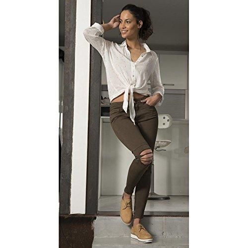 Ideal Shoes -  Maglia a manica lunga  - Donna Bianco