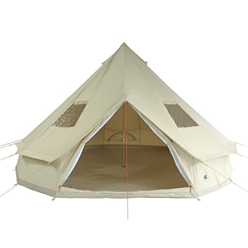 10T Desert 8 – 8 person cotton pyramid tent, sewn in ground sheet