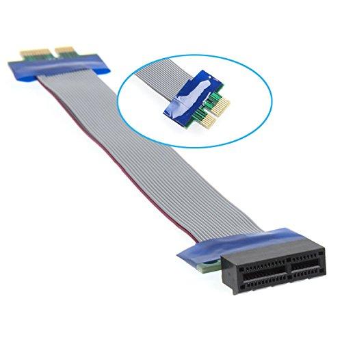 Q28 20cm PCI-E 1x Riser Karte Extender Adapter Verlängerung Kabel Flachbandkabel, Kein Fahrer notwendig und Sprung weniger, PCI-E 1X männlichen zu weiblichen Riser-Karte Extender -