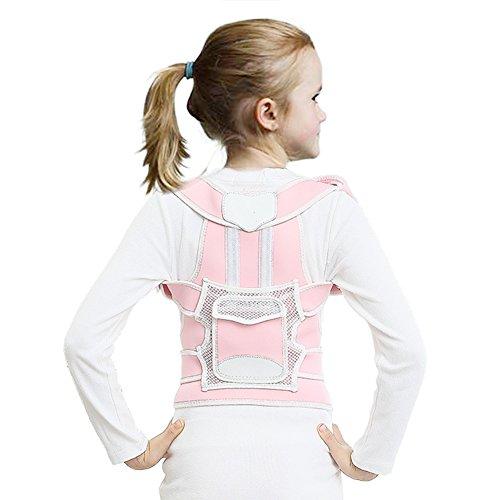 Postura Corrector para Niños Ajustable Prevenir Jorobada Soporte de Espalda Hombro Lumbar enderezar Back Cintura Cinturon (L)