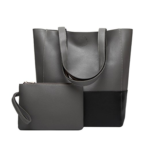 Casual Fashion Lady Big Borsetta Messenger Borsa Jyjm Donna Hit Colore Tracolla Spalla Messenger Messenger Bag Grigio