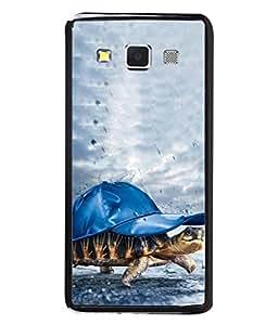 Printvisa Designer Back Case Cover for Samsung Galaxy A3 (2015) :: Samsung Galaxy A3 Duos (2015) :: Samsung Galaxy A3 A300F A300Fu A300F/Ds A300G/Ds A300H/Ds A300M/Ds (Under Water Tortoise Wearing Cap )