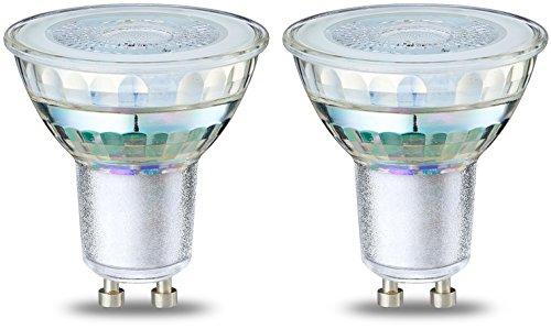 AmazonBasics GU10 LED Lampe, Spot, 4.6W (ersetzt 50W), klar, 2er-Pack