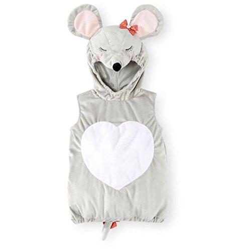 Baby Koala Kostüm - süße Maus Koala Baby Fasching Halloween Karneval Kostüm Overall mit Hoodie Cape (74-80)