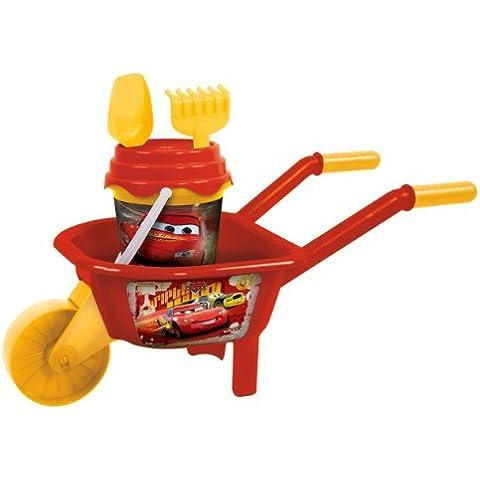 Mondo A1100175 Cars - Carretilla infantil y juguetes de playa