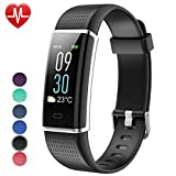 Willful Fitness Armband Herzfrequenz Smart Armband Uhr IP68 Wasserdicht Sport Fitness Tracker Pulsmesser mit Schrittzähler,Kalorienzähler,Vibrationsalarm,Whatsapp SMS Beachten Multi-Sport-Tracker