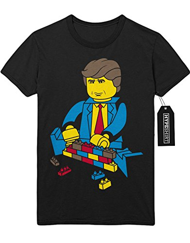 "T-Shirt ""LEGO DONALD TRUMP"" K123458 Schwarz"