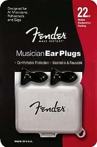 Fender Musician Ear Plugs Ohrhörer mit Behälter (22 Dezibel), 1 Paar