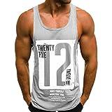 Kanpola Herren Tanktop Tank Top Tankshirt Ärmellos Muskelshirt Vest Männer Strand Sommer Tops Weste Unterhemden Trainingshirt Fitness Sport Casual Shirt