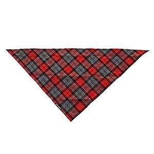Bandana Echarpe Foulard Triangle Réglable pour Chiot Chien Rouge