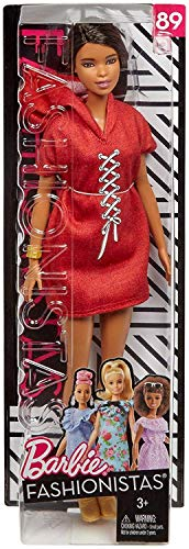 Mattel Barbie - Fashionistas Puppe, im roten Sweatkleid, mit Kapuze (Barbie-world Sammlung Puppen)