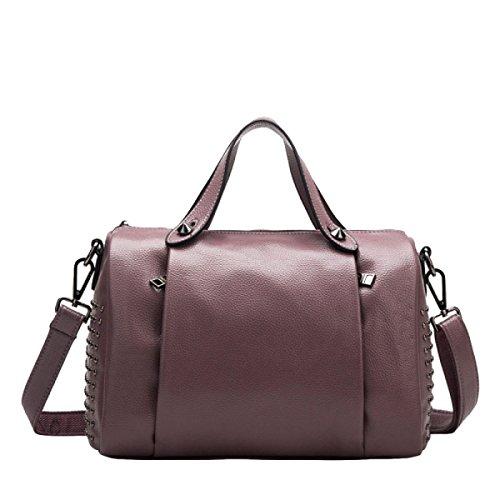 Leder Handtaschen Windsack Tasche Kissen Tasche Schultertasche Handtasche Messenger Tasche Einfache Mode Freizeit Purple