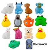 #10: Ramakada Chu Chu Bath Toys for Baby Non-Toxic Toddler Set Multi Color