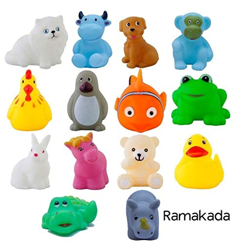 Ramakada Chu Chu Bath Toys for Baby Non-Toxic Toddler Set Multi Color