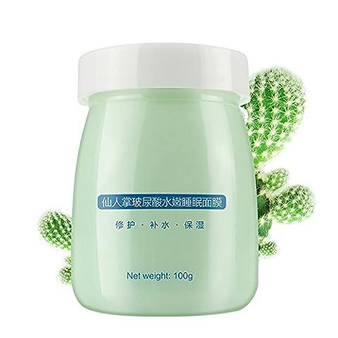 Weisy Cactus Masque de Sommeil Hydratant Humide Nourrissant pour Visage