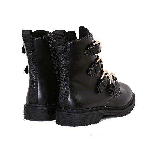 Versace Jeans  Combact Boot, amphibiens femme Noir