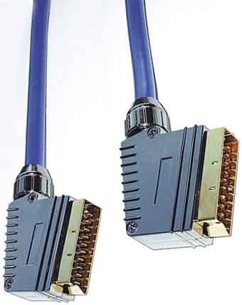 E+P Profi-Scart-Kabel (vergoldete Kontakte, 21-polig belegt) 1,5m