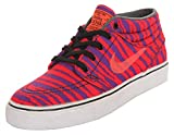 NIKE SB Herren Sneakers Stefan Janoski MID PRM Neon Orange-Lila 642061-651, Groesse Eur:37.5